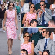 #PippaMiddleton and beau James Matthews enjoy a date on Centre Court rooting for Andy Murray in his quarter final match at #Wimbledon  @dailymail