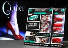 Giveaway from @marissa_meyer & @EspionageMakeup! Signed book and sparkly nails :D