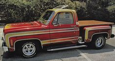 Street Machines: Photo-great picture from the psychedelic era! Chevy Camaro, 87 Chevy Truck, Vintage Chevy Trucks, Chevy Pickups, Chevrolet Trucks, Chevrolet Silverado, Gm Trucks, Cool Trucks, Pickup Trucks