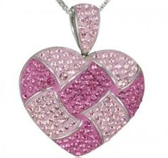 Pink Crystals Heart Photo
