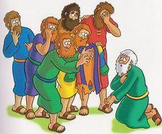 Jozef verkocht door zijn broers - Prent