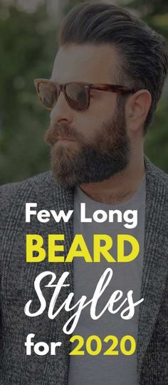 Start your 2020 with a new look! If you have a short beard then start growing a long beard. Here are 20 Hottest Long Beard Styles for 2020! Grow A Thicker Beard, Thick Beard, Short Beard, Latest Beard Styles, Long Beard Styles, New Beard Look, Beard Maintenance, Mens Fashion Blog, Men's Fashion