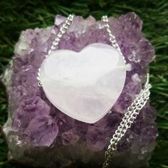 Rose Quartz Crystal Loveheart necklace is back in stock  Fill life with love and happiness x