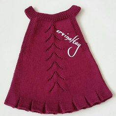 Find and save knitting and crochet schemas, simple recipes, and other ideas collected with love. Baby Hats Knitting, Knitting For Kids, Baby Knitting Patterns, Girls Knitted Dress, Knit Baby Dress, Knit Picks Yarn, Crochet Baby, Knit Crochet, Baby Sweaters