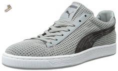 PUMA Suede Urban Statement Fashion Sneaker,Limestone Gray/Black,11 D US - Puma sneakers for women (*Amazon Partner-Link)