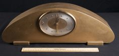 PAINTED WOOD MANTLE CLOCK BY REVERE ELECTRIC. MODEL NO. R941, WESTMINISTER CHIME CININNATI OHIO, MEASURES 18 IN. LONG.