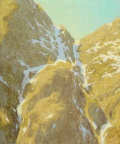 """Michael Albala, Snow Rivers in Half Light,  Oil on panel   18""""x15""""    Confluence Gallery and Art Center   through July 26, 2014   Washington. He has a great book on Landscape  Painting!"""
