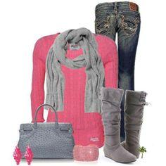 Cute.... I need gray boots!