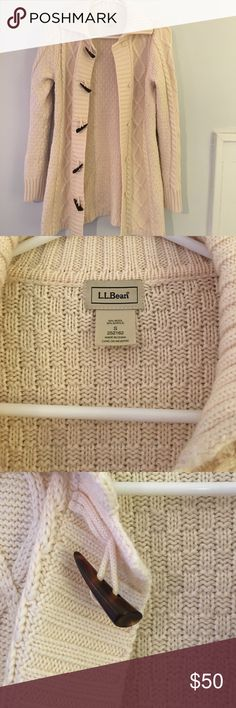 L.L. Bean cable knit sweater coat Cozy sweater coat in beautiful condition. Only worn a few times. Toggle closures. L.L. Bean Jackets & Coats