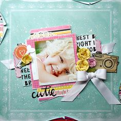 Cutie *My Creative Scrapbook April 2015 Main Kit American Crafts - Amy Tangerine Collection - Rise and Shine Scrapbook Page Layouts, Scrapbook Cards, This Little Piggy, Sugar Craft, American Crafts, Making Memories, Mini Albums, Digital Scrapbooking, Paper Crafts