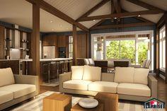 Designer, Zen / Contemporain, Bordure de lac / Chalet   LAP0518   Maison Laprise - Maisons pré-usinées
