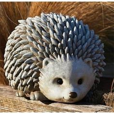 825 Pudgy Pals Weather Finished Hedgehog Outdoor Garden Statue Figure Click i Pottery Animals, Ceramic Animals, Clay Animals, Outdoor Garden Statues, Garden Figurines, Garden Animals, Paperclay, Sculpture Clay, Ceramic Clay