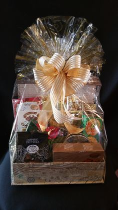 Corporate gift basket with marketing materials see coffee mug on corporate keepsake gift bakset with various treats negle Gallery