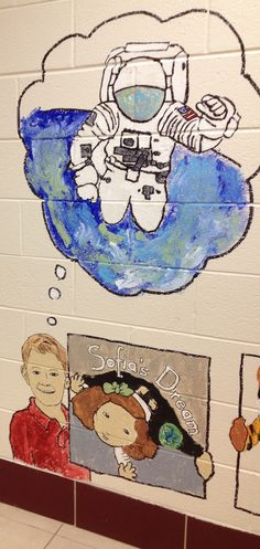 Sofia's Dream school mural from Mike Carroll's 2nd grade art students at Concord Elementary in Glen Mills, PA.