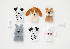 little puppies, dogs, felt, templat, fingers, life crafti, dog finger, kid craft, finger puppets
