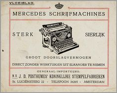 Mercedes schrijfmachines