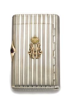 An Imperial Presentation Fabergé silver cigarette case, workmaster Anders Nevalainen, St Petersburg, dated 1902