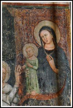 Madonna con Bambino - Affresco in Santa Maria Maggiore (particolare) - Bergamo