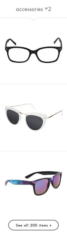 """accessories #2"" by elisabeth-galfano ❤ liked on Polyvore featuring accessories, eyewear, eyeglasses, hemingway, sunglasses, white, cateye sunglasses, spitfire glasses, white glasses and white cat eye glasses"