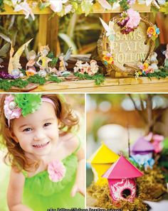 Tinkerbell party -- fairy house favors