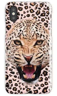 leopard iPhone 4, 5, 6, 7, 8, X Cases & Skins #Case #CellPhone #iPhonecase #hardcase #animals #beast #tiger #lion #whitetiger #whitelion #kingofthejungle #pattern #stipes #skins #abstract #VanGogh