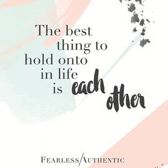 HOLD ON TIGHT    A good reminder that it's the people in our lives — not the things — that matter the most.  .  One of our core beliefs here @fearlessauthentic  if you share our view then don't forget to sign up to our newsletter for more authentic wedding-related musings.  .  Link in bio