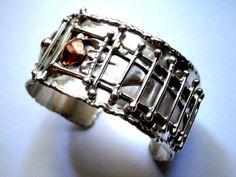 Handmade Bangle Bracelet Fine Silver Women's Heavy Adjustable Bracelet, Hammered Bracelet, Polished Cuff Bracelet, Melted Design Ring Designs, Jewellery Designs, Nose Earrings, Bangle Bracelets, Bangles, Sterling Silver Cuff Bracelet, Silver Ring, Silver Jewelry, Turquoise Pendant