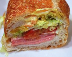 The Poor Boy sandwich from Bay Cities Italian Deli and Bakery in Santa Monica is a culinary religious experience. Looks good Types Of Sandwiches, Wrap Sandwiches, Best Sandwich, Sandwich Recipes, Sandwich Board, Comida Boricua, Italian Deli, Whats For Lunch, Easy Delicious Recipes