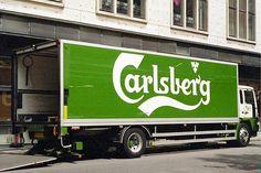 Beer - Carlsberg - Truck Beer Pics, Beer Pictures, Antique Trucks, Brewery, Transportation, Label, Branding, Cars, American