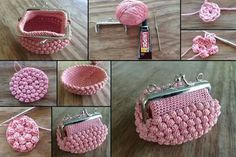 Curator knittingwithsoul by tamara sinelnik on etsy – Artofit Bobble stitch handbag crochet pattern with video tutorial – Artofit This pin was discovered by Мар Crochet Coin Purse, Crochet Backpack, Crochet Purse Patterns, Crochet Stitches, Crochet Simple, Crochet Diy, Love Crochet, Crochet Bags, Lidia Crochet Tricot