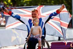 David Weir after winning Paralympic Marathon