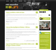 Desenvolvimento do blog MKT Esportivo. Um perfil no Twitter com milhares de seguidores que virou blog com notícias sobre esportes e negócios.