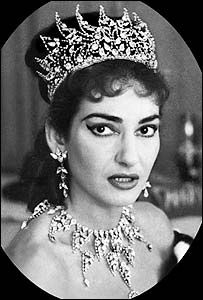 Bridal jewelery from Maria Callas' 1956 performances in Tosca