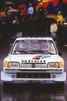 Bruno Saby, Peugeot 205 T16, Corsica Rally 1985.