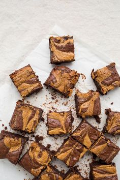 Fudgy and decadent, these healthier Peanut Butter Swirl Brownies are the ultimate treat. Gluten-free, grain-free, dairy-free, and refined sugar-free!