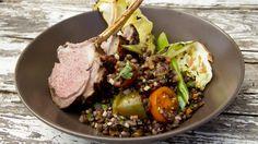 Grillet lam med puylinser og syltet agurk Frisk, Lamb, Main Dishes, Beef, Ethnic Recipes, Food, Grilling, Main Course Dishes, Meat