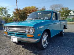 This 1971 Datsun 521 pickup is an 87k-mile driver purchased by the seller from California in 2010. The 1.6L inline-four is paired to a 4-speed manual, and the truck remains mechanically and structurally sound. It is sold with service records from the seller's ownership and a clean District of C