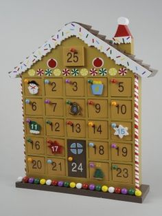 Wooden House Advent Calendar Delightful wooden christmas house advent ...