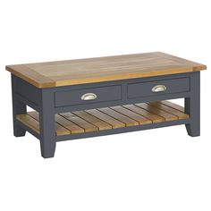 Rustic Rectangular Coffee Table from Harley & Lola