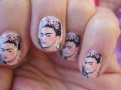 Frida Kahlo nails