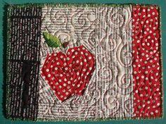 Apple Mug rug | Flickr - Photo Sharing!