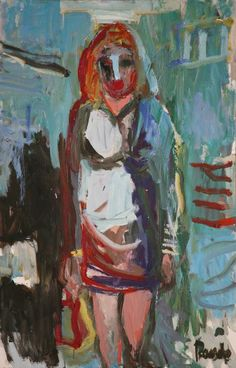 Sin título. Óleo sobre lienzo. 100 x 87 cm. 2002. Autor: Jorge Rando.