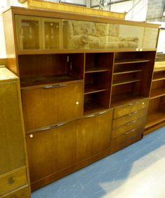 Modern teak sideboard / display cabinet