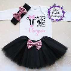 """This is an adorable cow first birthday girl outfit. This outfit features a bodysuit with the word """"ONE"""" in cow. Cow Birthday Parties, First Birthday Themes, 1st Birthday Outfits, Farm Birthday, Birthday Tutu, Girl First Birthday, Birthday Shirts, Birthday Ideas, Tutu Outfits"""