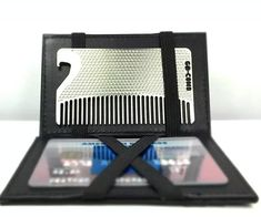 Go Comb - Metal Mens Wallet Size Comb + Bottle Opener - Hair and Beard Slim Pocket Comb - Credit Card Comb - Matte Black Beer Opener, Bottle Opener, Best Gifts For Men, Great Gifts, Metal Comb, Novelty Items, Inexpensive Gift, Cool Gadgets, Steel