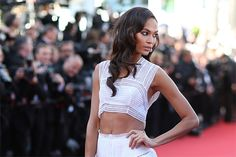 Chanel Iman poses for photographers upon arrival at the screening of the film Youth at the 68th international film festival, Cannes, southern France, Wednesday, May 20, 2015. (AP Photo/Thibault Camus)