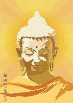 Buda or Buddha Siddhartha Gautama the Enlightened One Gautama Buddha, Buddha Buddhism, Buddhist Art, Buddha Kunst, Buddha Zen, Buddha Artwork, Buddha Painting, Buddhist Traditions, Buddha Tattoos