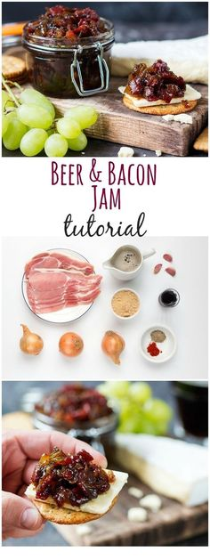 Bacon Day With Boozy Bacon Jam You Can DIY Bacon and Beer Jam - You'll want to spread it on everything!Bacon and Beer Jam - You'll want to spread it on everything! Jelly Recipes, Beer Recipes, Bacon Recipes, Canning Recipes, Dessert Recipes, Beer Jelly Recipe, Gourmet Desserts, Coffee Recipes, Vegetarian Recipes