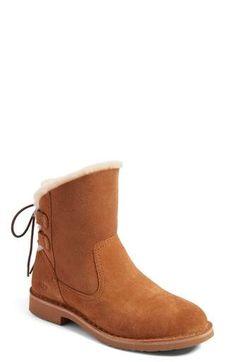 UGG(R) Naiyah Lace-Back Genuine Shearling Boot