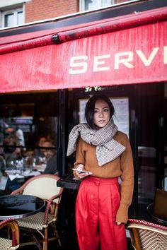 Street style alla settimana della moda di Parigi autunno 2017